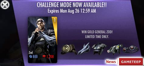 injustice ios new challenge injustice gods among us zod gameteep