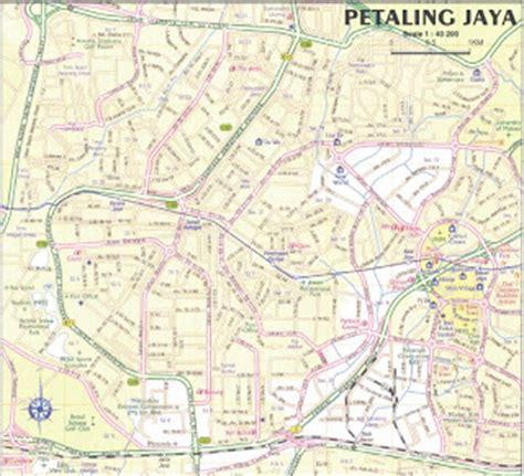 petaling jaya map malaysia travel guide and map map of petaling jaya