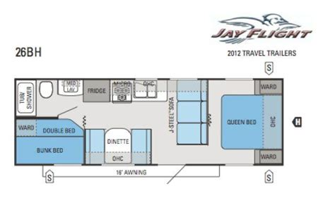 26 ft travel trailer floor plans 2012 jayco jay flight 26bh travel trailer new carlisle oh