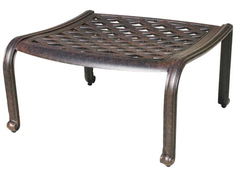 metal ottoman darlee outdoor living standard catalina cast aluminum