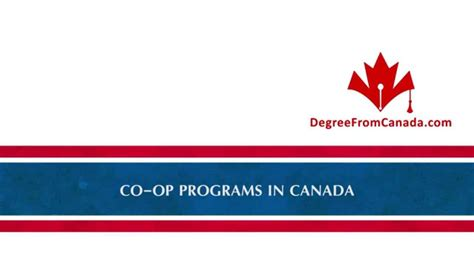 Best Co Op Mba In Canada by Co Op Programs In Canada