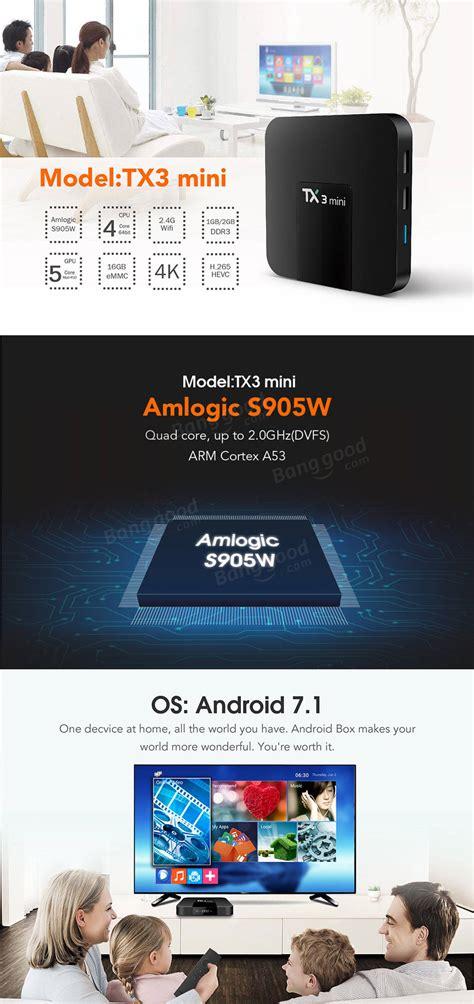 Tanix Tx3 New Ram 2g 16g Cpu S905w Os Nogaut 7 1 2 Miracast Wifi Lan tanix tx3 mini amlogic s905w 2g ram 16g rom android7 1 4k tv box sale banggood
