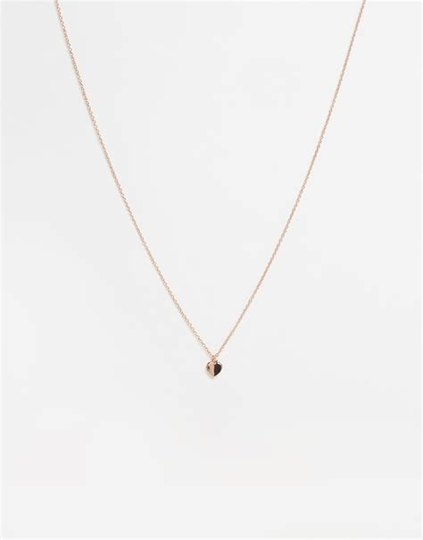 ted baker hara tiny pendant necklace in pink lyst