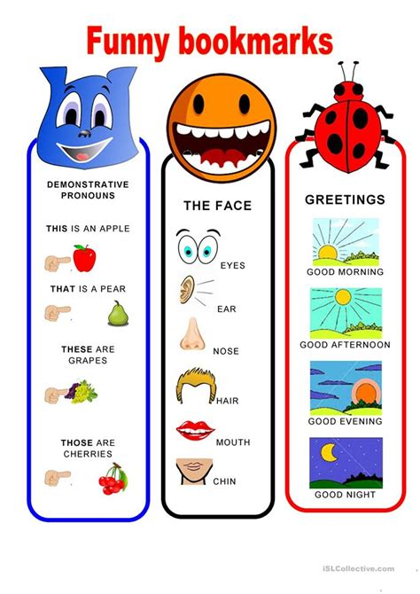 Printable Educational Bookmarks | educational bookmarks to print pictures to pin on