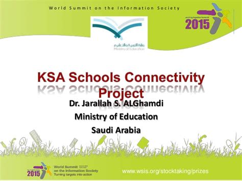 Mba Distance Education In Saudi Arabia by Wsis Project Prizes 2013 C2 Schools Connectivity