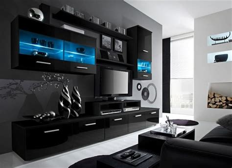 modern black entertainment center contemporary design wall unit modern