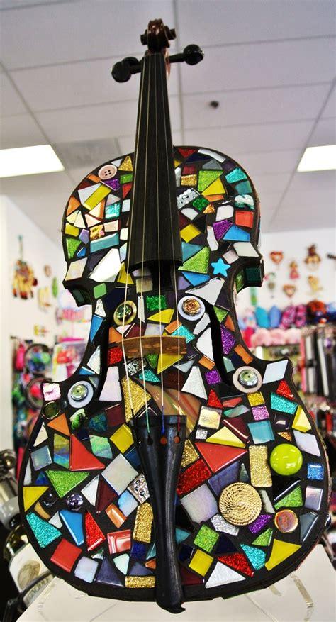 mosaic violin pattern mosaic violin project made from an old violin a variety