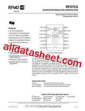 datasheet of rf diode rf2713 datasheet pdf rf micro devices