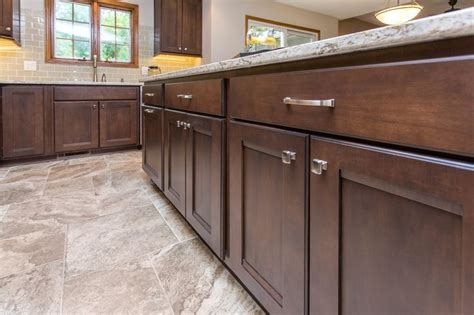 Medium Maple Cabinets by These Maple Cabinets Are Stained A Medium Color With A