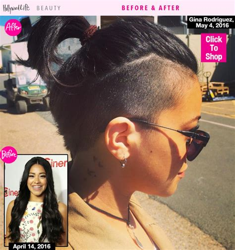 gina rodriguez s short hair see her new shaved hairstyle