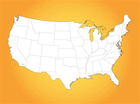 usa states map vector usa map vector graphics freevector