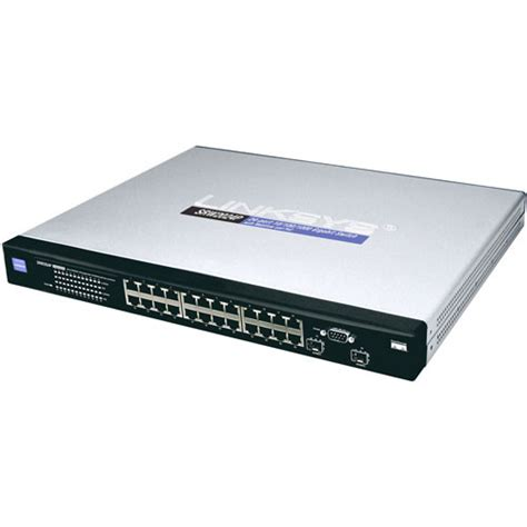 Switch Hub Manageable 24 Port cisco 24 port managed gigabit switch with webview and srw2024p