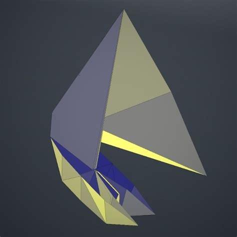 3d Origami Boat - origami boat 3d model obj fbx dae lxo cgtrader