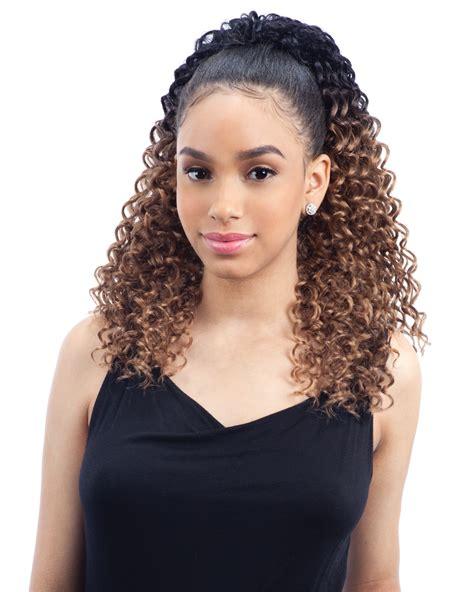 realistic drawstring afro puff jumbo freetress equal drawstring ponytail lagoon girl