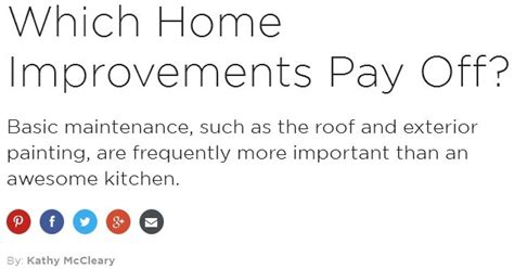 which home improvements pay home improvement