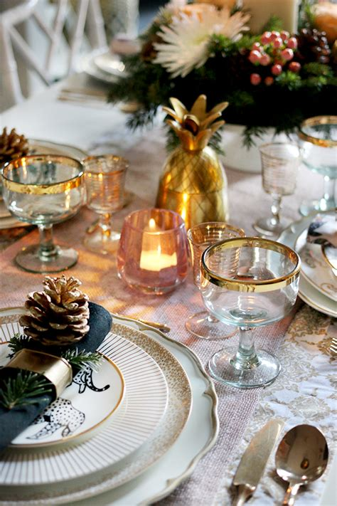 how to create a glam christmas table setting on a budget swoon worthy