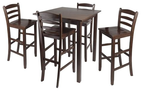 parkland 5 pc square high pub table set contemporary