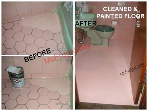 paint bathroom floor tile pin by barbara malone msfrugalady frugal on bath