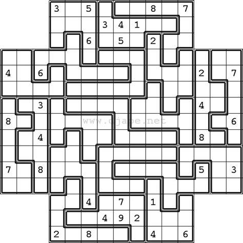 printable sudoku puzzles com samurai jigsaw sudoku in flower sudoku format 5 in 1 gattai 5