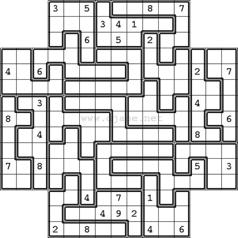 printable sudoku 5 in 1 jigsaw sudoku in flower sudoku format 5 in 1 gattai 5