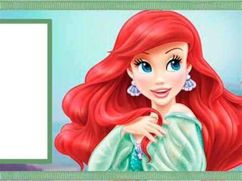 imagenes en png de la sirenita marco de foto princesa ariel descargar marcos para fotos