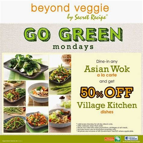 secret recipe promotion 2015 go green mondays beyond veggie by secret recipe