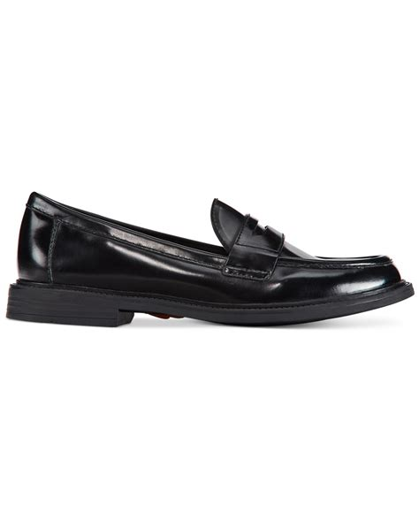 cole haan loafers womens cole haan s pinch cus loafers in black lyst