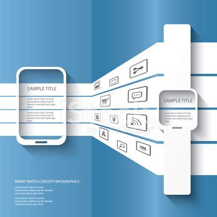 smart watch concept illustration infographics stock vector