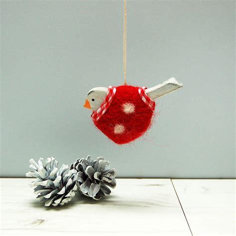 hanging spotty robin christmas decoration by spotty n