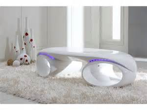table basse space coloris blanc prix promo table basse
