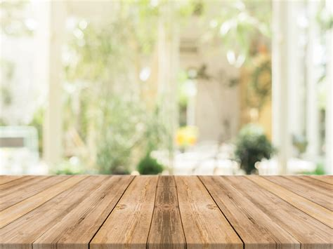 oga home design products wooden board empty table in front of blurred background