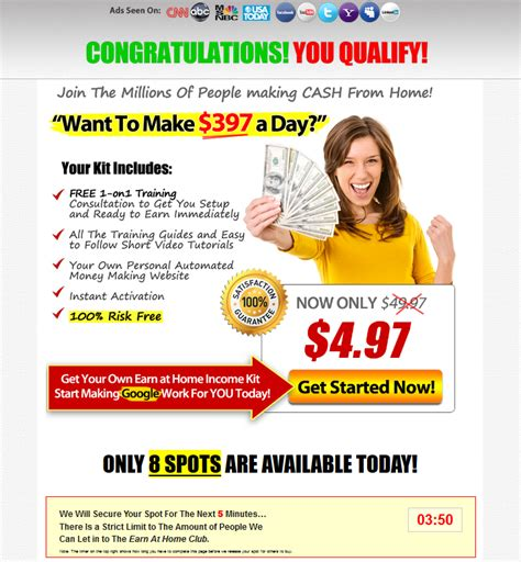 is earn at home club scam read before you register