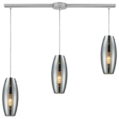 three light polished chrome multi light pendant