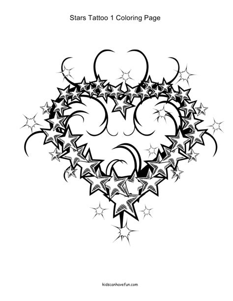 tattoo designs hearts and stars coloring pages animals flowers hearts