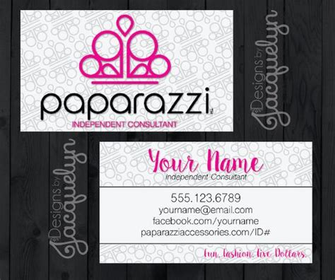 Paparazzi Accessories Consultant Business Card Printed Paparazzi Business Card Template