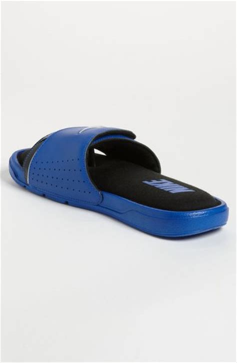 nike comfort slide 2 white and blue nike comfort slide 2 slide in blue for men game royal