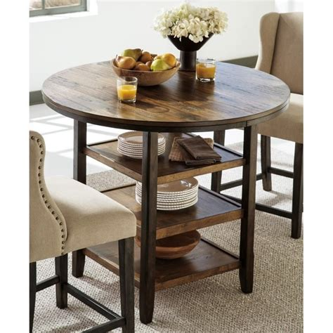 moriann round dining room counter table wood dar target round cushions for patio chairs cecile leather round