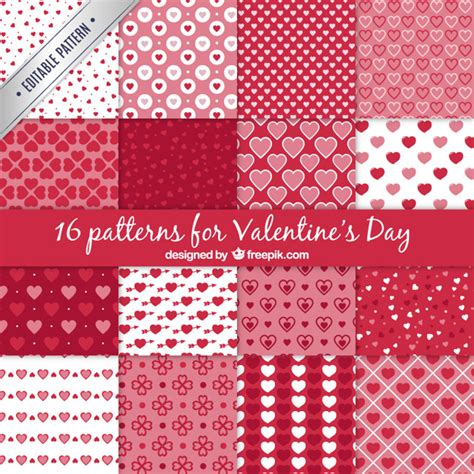 valentines day patterns valentines day patterns collection vector free