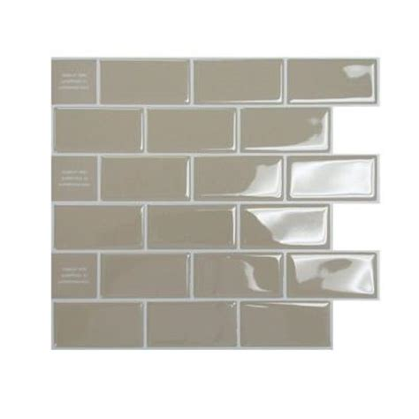 adhesive kitchen backsplash smart tiles 9 62 in x 9 33 in adhesive decorative tile