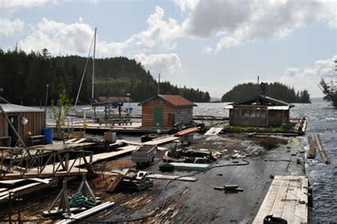 sinking boat docks cruising british columbia s inside passage