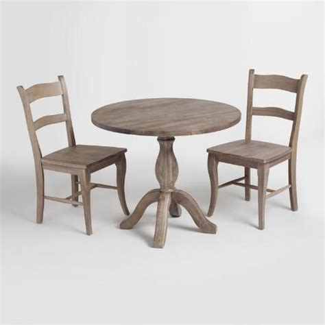 Weathered Gray Wood Jozy Dining Chairs Set Of 2 World Market Gray Wood Dining Chairs