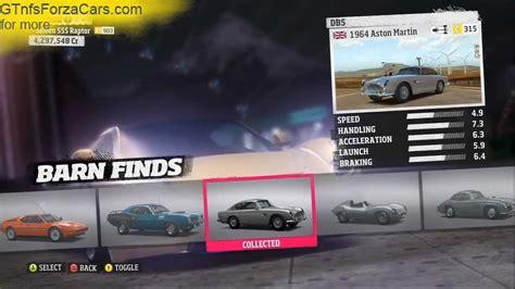 Barn Finds Forza Horizon Cars forza horizon car list barn finds dlc unicorn cars