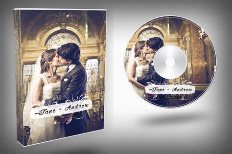 design dvd jacket elegant wedding dvd cover templates on creative market