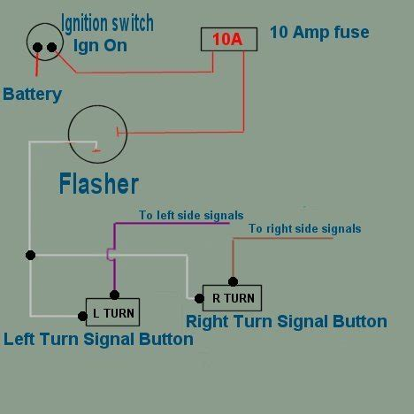 turn signal wiring diagram for 7 wire universal turn signal wiring diagram wiring diagram