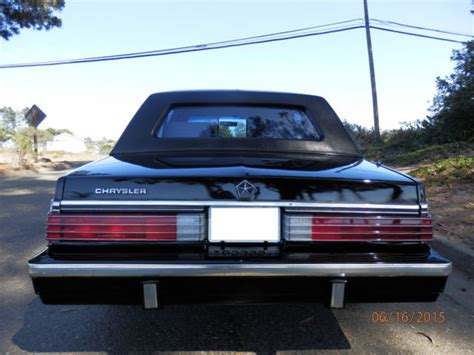 Chrysler K Car For Sale by Chrysler Lebaron Limousine 1985 Black For Sale