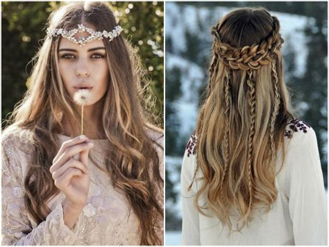 bohemian wedding hairstyles for hair 60 boho hairstyles for medium length hair
