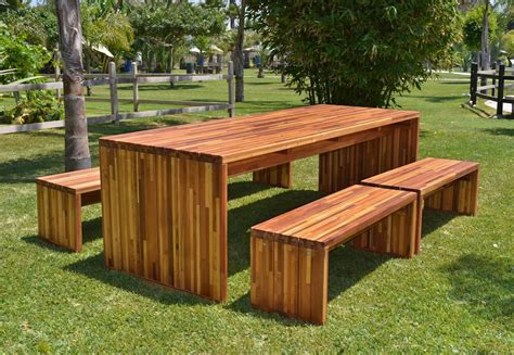 modern patio table modern redwood patio table with benches forever redwood