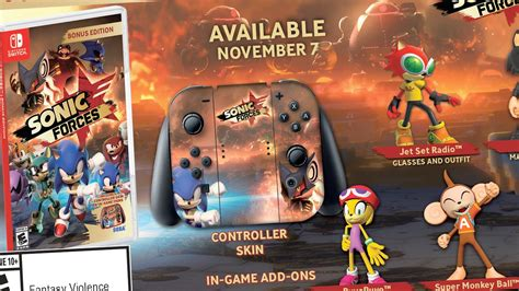 Nintendo Switch Sonic Forces Bonus Edition sonic forces coming fast to switch on november 7th vooks