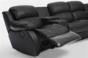 brand new black leather 4 seater home theatre lounge