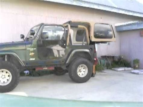 jeep hardtop removal how to install jeep hard top by yourself youtube